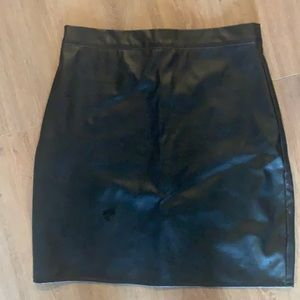 Misguided vegan leather skirt size 2